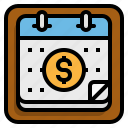business, calendar, payment icon