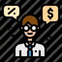 advisor, coach, money icon