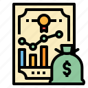 accounting, banks, business, equities, money icon