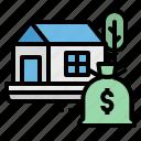 estate, finance, money, property, real icon