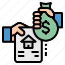 bag, currency, exchange, loan, money icon