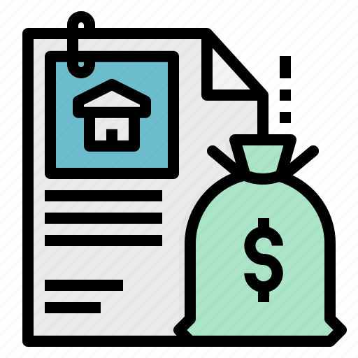 banking, house, loan, money, property icon