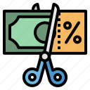 bill, payment, percent, tax, taxes icon