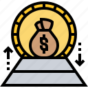 earning, income, net, payment, profit icon
