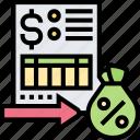tax, rate, interest, percentage, document