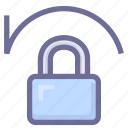 account, lock, recover password icon