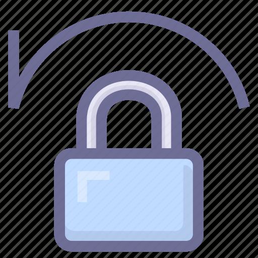 account, lock, recover password icon