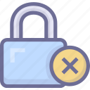 lock, password, password error, security icon