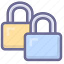 account, locks, protection, security icon