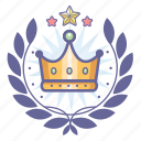 king, wreath, crown, award, badge, achievement