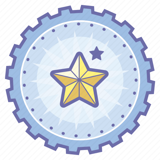 achievement, award, badge, favorite, gear, rating, star icon