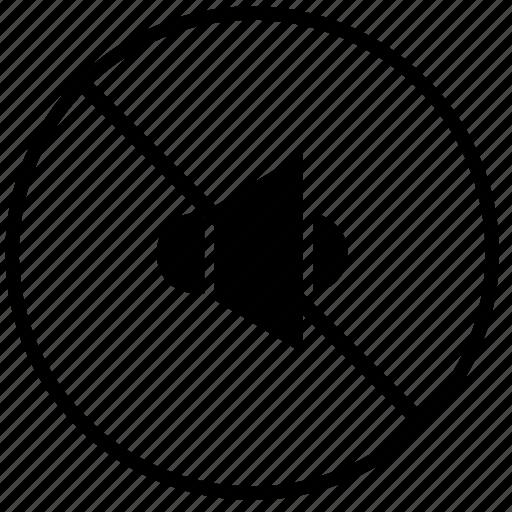 acoustics, cancel, over, sound, speaker, volume icon