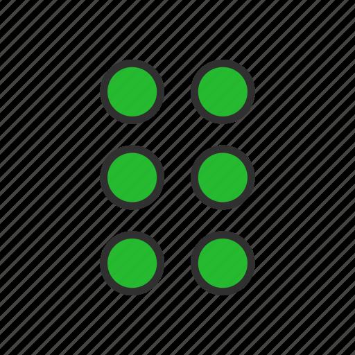 circles, edit tool bar, setting, shape icon