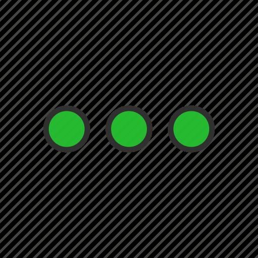 circles, notification, setting, shape icon