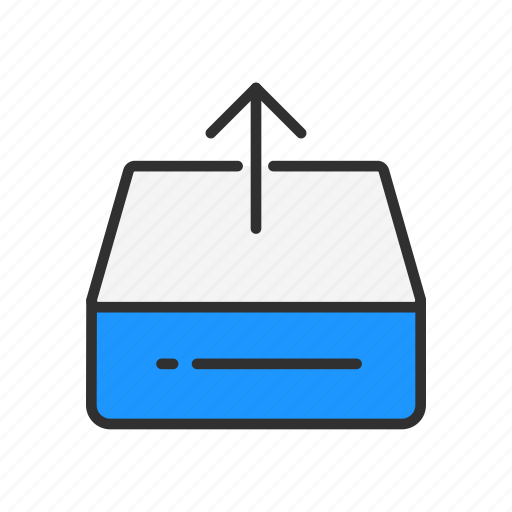 disk, files, storage, upload file icon