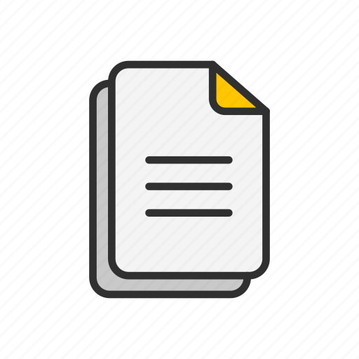documents, files, paper, text icon