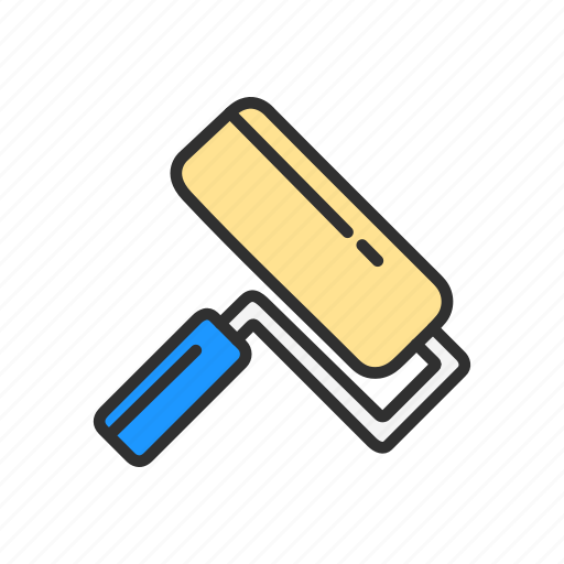 brush, color tool, paint brush, paint ruler icon
