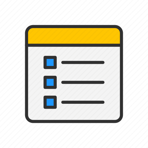 check list, documents, events, table icon