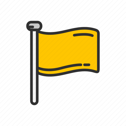 banner, country, flag, location, yellow flag icon