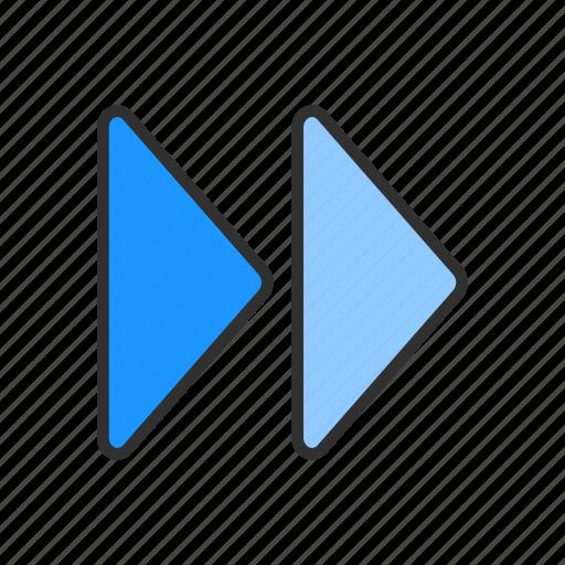 arrows, forward, navigate, next button icon