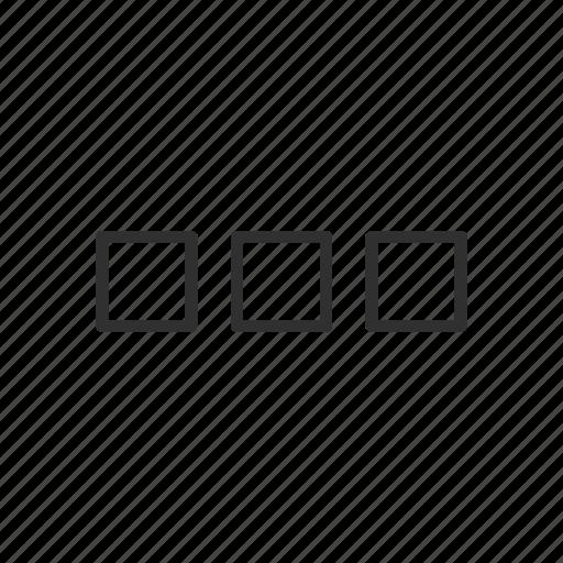 box, edit tool bar, setting, squares icon