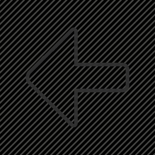 arrow, arrow left, navigate, pointer icon