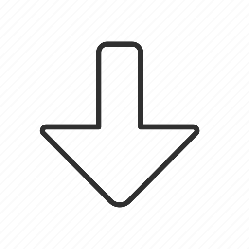 arrow, arrow down, navigate, pointer icon