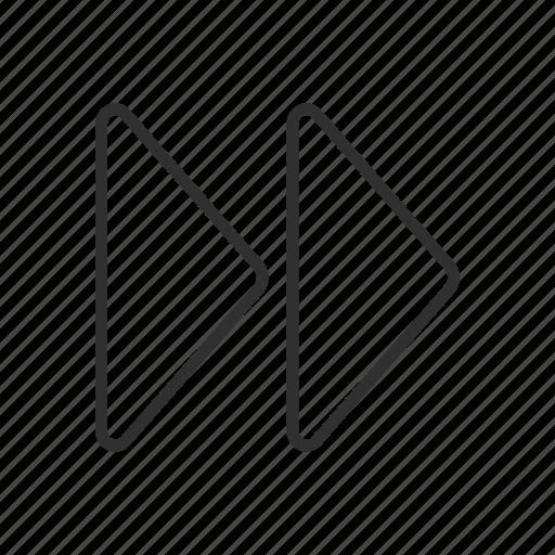 arrows, forward, next, right icon