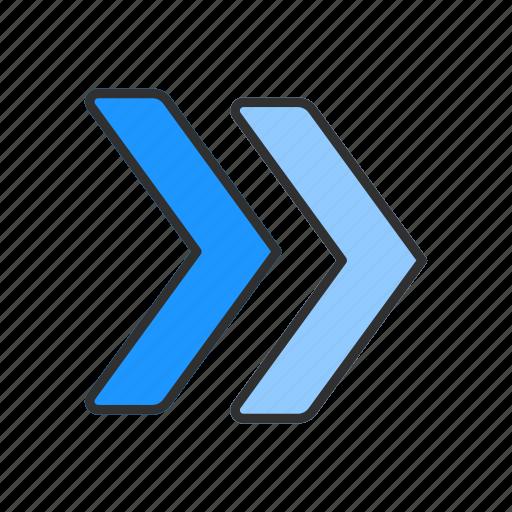 arrow, forward, navigate, next button icon