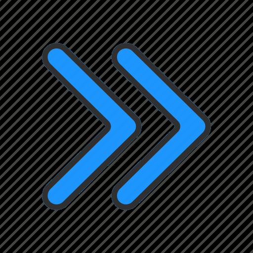 arrow, forward, navigate, next icon