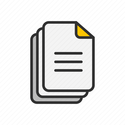 document, files, notes, text icon