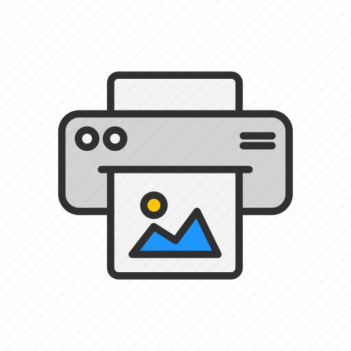 photocopy, print picture, printer, scanner icon