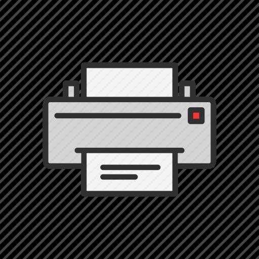 documents, print text, printer, scanner icon