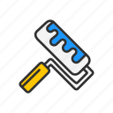 color tool, paint, paint ruler, tool icon