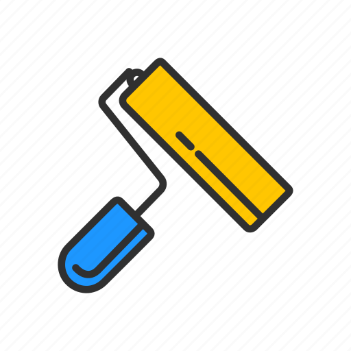 color tool, paint, paint brush, paint ruler tools icon