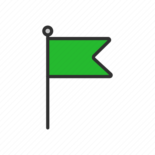 banner, country, flag, green flag, place icon