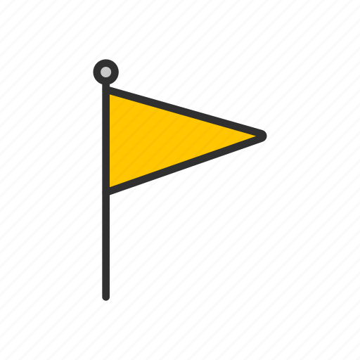 banner, flag, flaglets, place, yellow flag icon