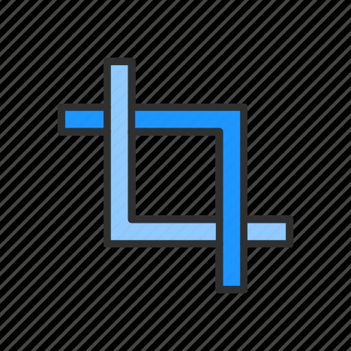 artboard tool, crop, line, shape icon