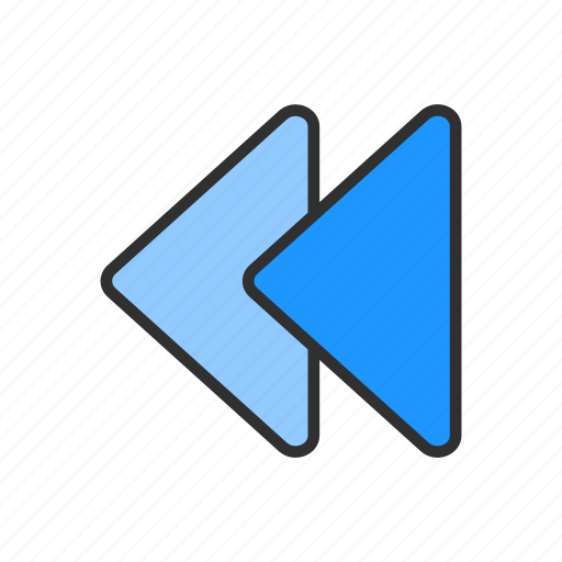 arrow, back button, navigate, playback icon