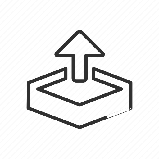 arrow, asset export, upload, upload file icon