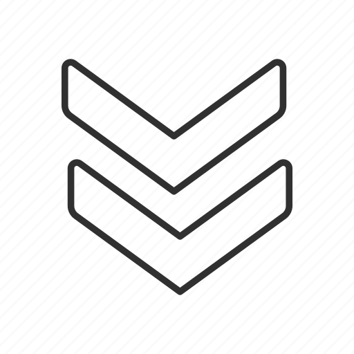 arrow, down, navigate, pointer icon