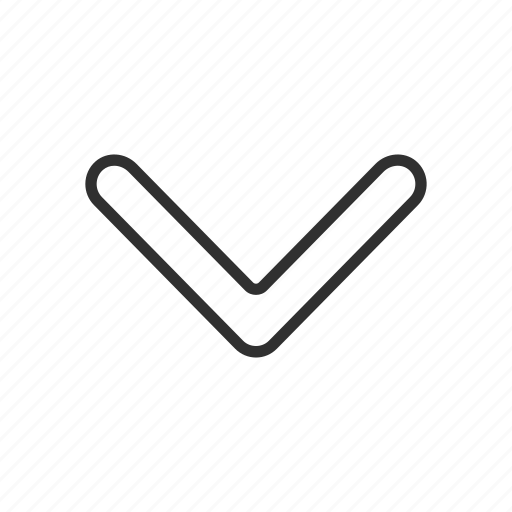 arrow down, down, navigate, pointer icon