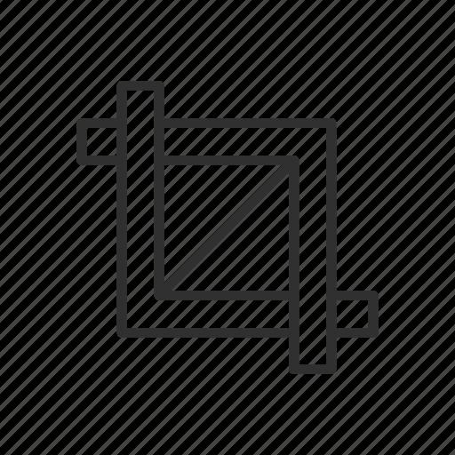 artboard tool, crop, lines, shape icon