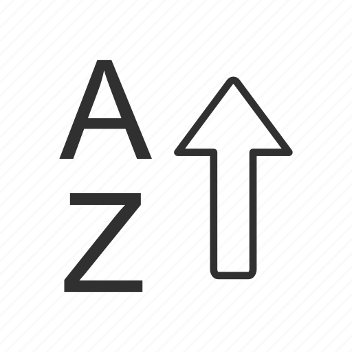 alphabet, ascending, letter ascending, letters icon