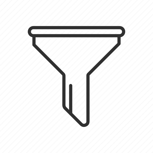 channel, filter, funnel, tube icon