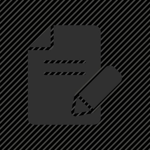 create file, create text, pen, write icon