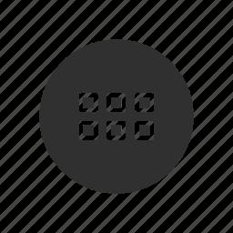 menu bar, notification, shapes, squares icon