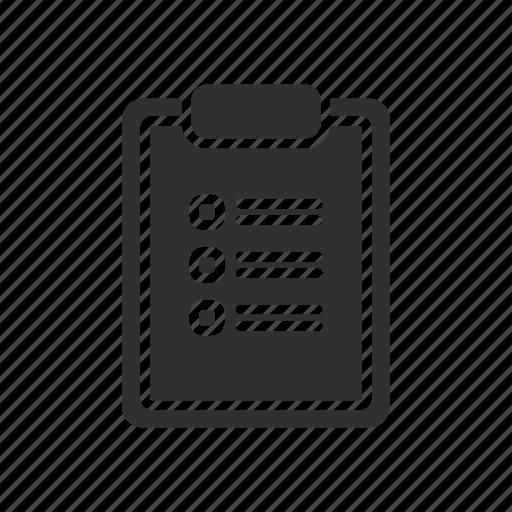 board, checklist, list, note icon