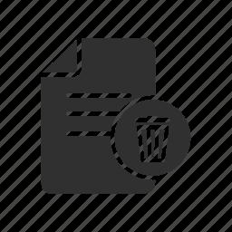 delte file, documents, remove documents, trash can icon