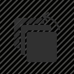 arrow, move file, square, transfer file icon